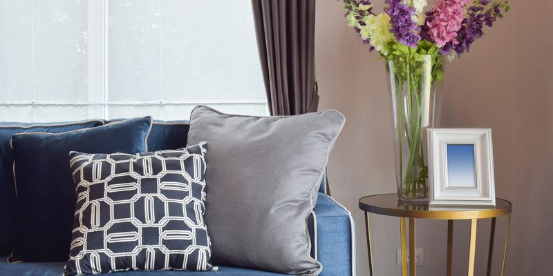 Navy blue modern classic sofa